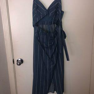 Denim stripes dress